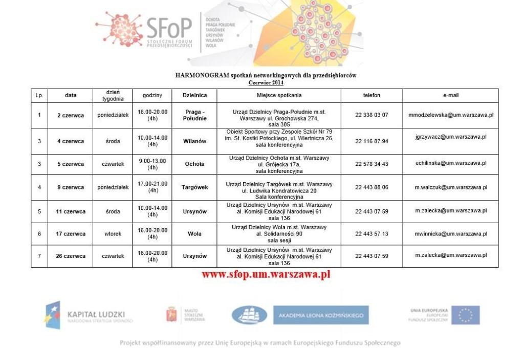 Sfop 2014 czerwiec program