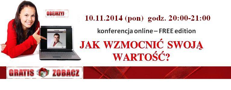 Webinar online: Jak zwiększyć swoją wartość? 10.11.2014