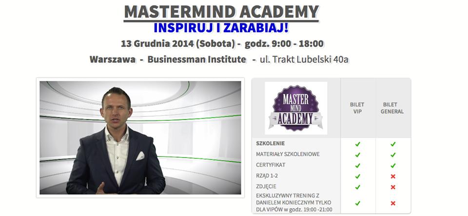 Mastermind Academy, Daniel Konieczny