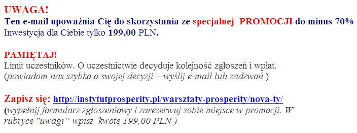 Nowa Ty Prosperity 3 zapisz sie