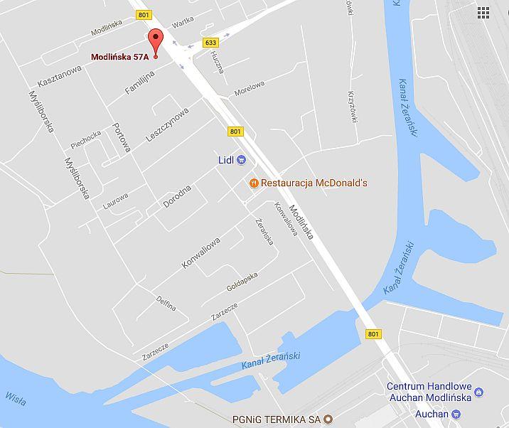 Mapa-Opel-Modlińska-WarszawaAC