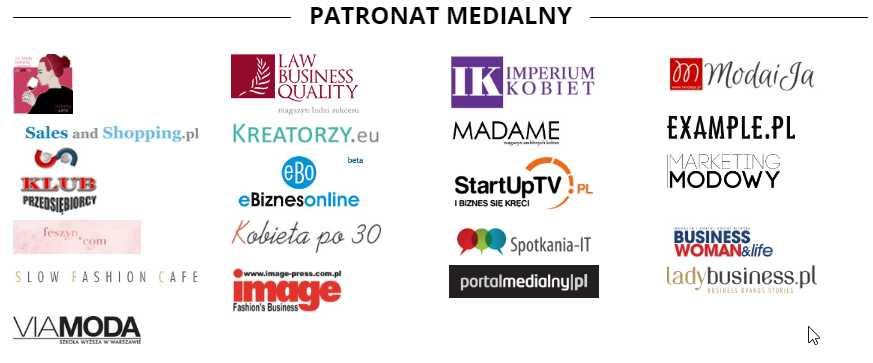 Patroni medialni konferencja szyte na miarę moda fashion